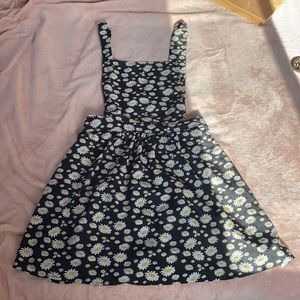 Daisy Print Skirt Overalls